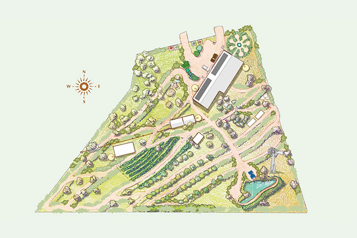 An Example of a Permaculture design site plan